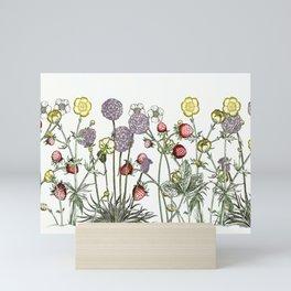 Medley of garden flowers Mini Art Print