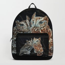 young love on a starry night - screech owls Backpack