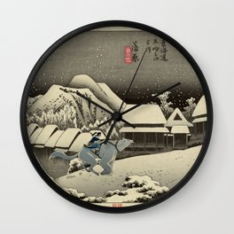 Kanbara Yoru No Yuki Korra and Naga Wall Clock