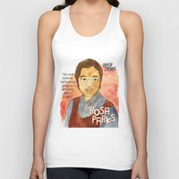 parks Tank Tops featuring Rosa Parks by The History Witch