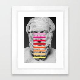 Sculpture With A Spectrum 2 Framed Art Print