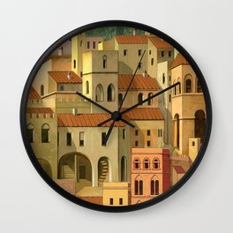 Medieval city Wall Clock