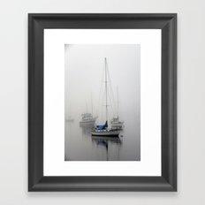 In The Mist of Morro Framed Art Print