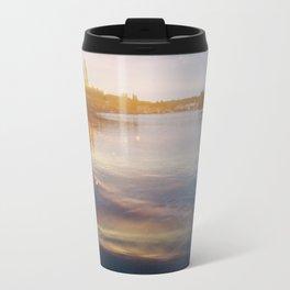 Leaking sunshine across the lake Travel Mug