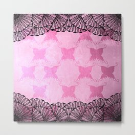 Butterfly Lace Metal Print