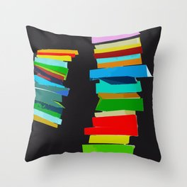 Colored stairs Throw Pillow