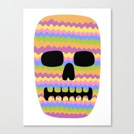 Zig-Zag Skull Canvas Print