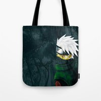 kakashi Tote Bags featuring Great Talent by BradixArt