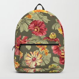 Watercolor fora pattern Backpack