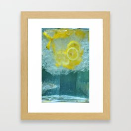 Lemon Water Framed Art Print