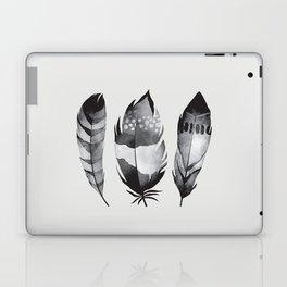 Monochrome bohemian feather set black-white boho watercolor animal illustration boho home wall decor Laptop & iPad Skin