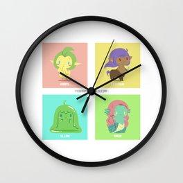 Monster Girls A Wall Clock