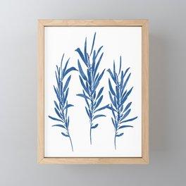 Eucalyptus Branches Blue Framed Mini Art Print