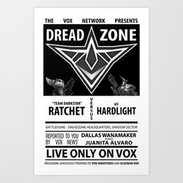 Ratchet and Clank: DreadZone Fight Art Print