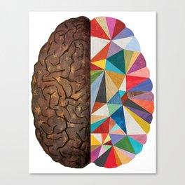 Geometric Brain Canvas Print