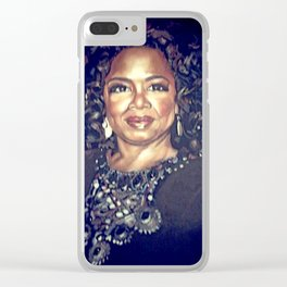 Black Woman Clear iPhone Case