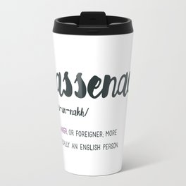 Outlander Sassenach Definition Travel Mug