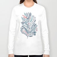leaf Long Sleeve T-shirts featuring Turning Over A New Leaf by Monica Gifford
