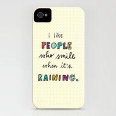 when it's raining iPhone (4, 4s) Slim Case