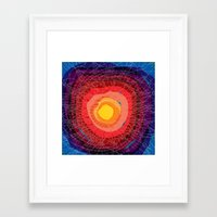 tie dye Framed Art Prints featuring Tie-Dye by Raven Jumpo