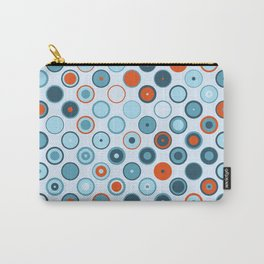Rowanberry Winter Dots and Circles Day Carry-All Pouch