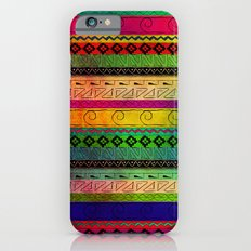 Aztec Pattern Tie Dye Andes Tribal Blue Red Abstract Colors iPhone 6s Slim Case
