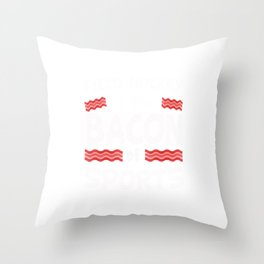 Field Hockey is the Bacon of Sports Funny Throw Pillow