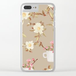 Coffee & Flowers Clear iPhone Case