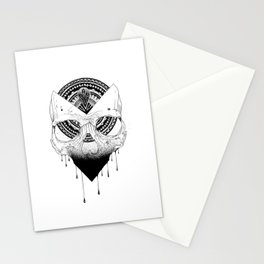 Enigmatic Skull Stationery Cards