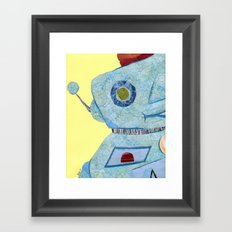 It's a robot world and we're just living in it Framed Art Print
