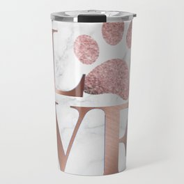 Love is a Four Letter Word - Rose Gold and Marble Travel Mug