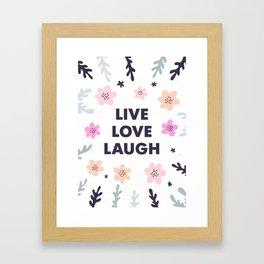 Live Love Laugh Framed Art Print