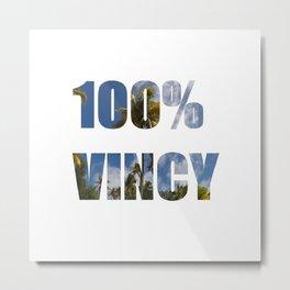 100% Vincy Metal Print