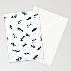 twigs & dots turquoise Stationery Cards