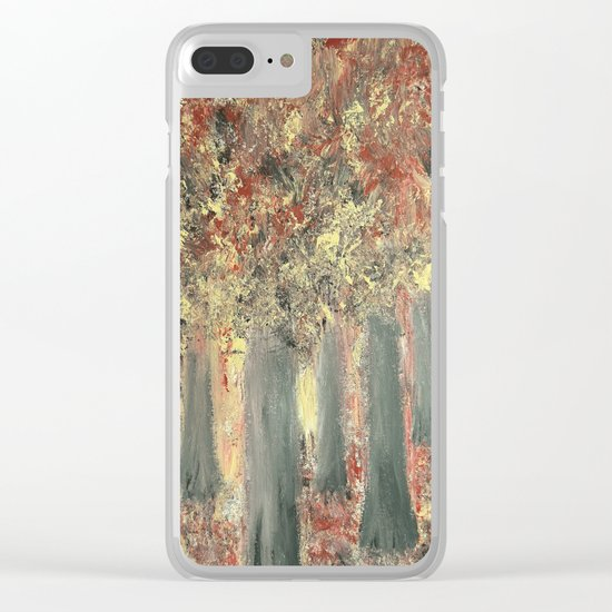 Forest Feeling Clear iPhone Case