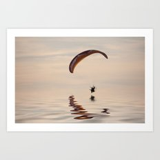 Powered paraglider Art Print