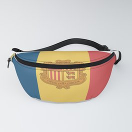 Flag of Andorra, officially the Principality of Andorra. Fanny Pack