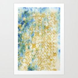 Buttons  - JUSTART ©, digital art Art Print