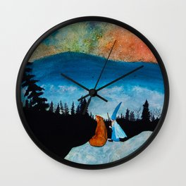 The Bear and the Wizard Wall Clock