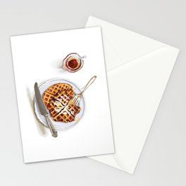 Waffles and Maple Syrup Stationery Cards