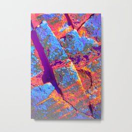 Rust in abstract Metal Print