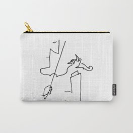 Saul Steinberg Violinist Violin Player American Cartoonist Artwork Reproduction for Prints Posters T Carry-All Pouch