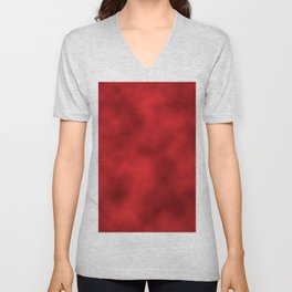 Bold Red Foil Smooth Metal Texture Festive / Christmas Unisex V-Neck