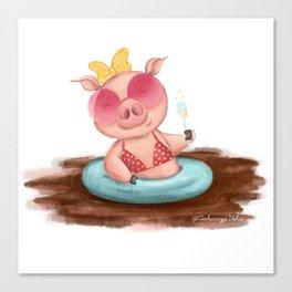 Summer Lovin Piggie Canvas Print