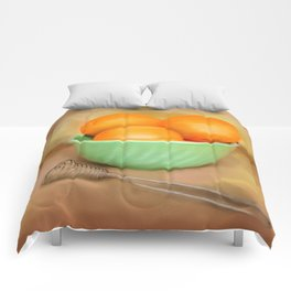 Fresh Oranges Comforters