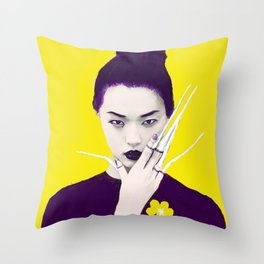 Violet the Violent Throw Pillow