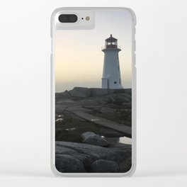 Lighthouse Calm Before the Storm Clear iPhone Case
