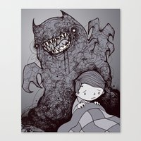 nightmare Canvas Prints featuring Nightmare by hatrobot
