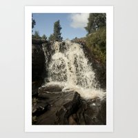 Waterfall - Scotland Art Print