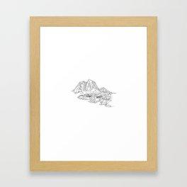 Mountain Series - Lofoten Island (B&W) Framed Art Print